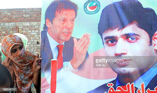 PakistanunrestvotecandidateHaq by Issam Ahmed In this photograph taken on May 8 2013 a supporter of AbrarulHaq a candidate for the national assembly...