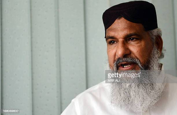 PakistanunrestvotesectarianFOCUS by Waqar Hussain In this photograph taken on April 2 Maulana Ahmad Ludhianvi the head of hard line Pakistani Sunni...