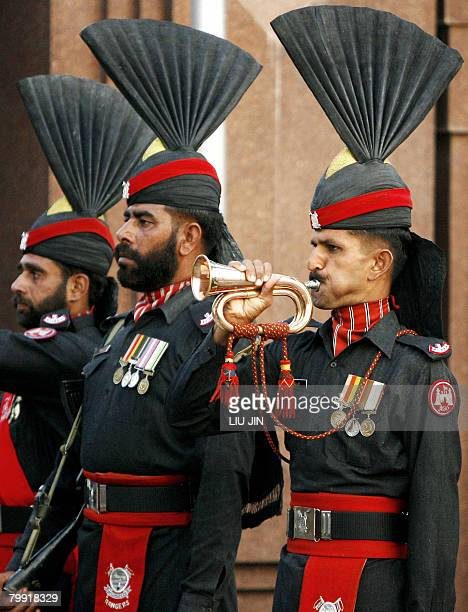 STORY 'PakistanvoteIndiapeace' by Charlie McDonaldGibson In this picture taken on February 20 2008 at the Wagah border post with India some 30 km...