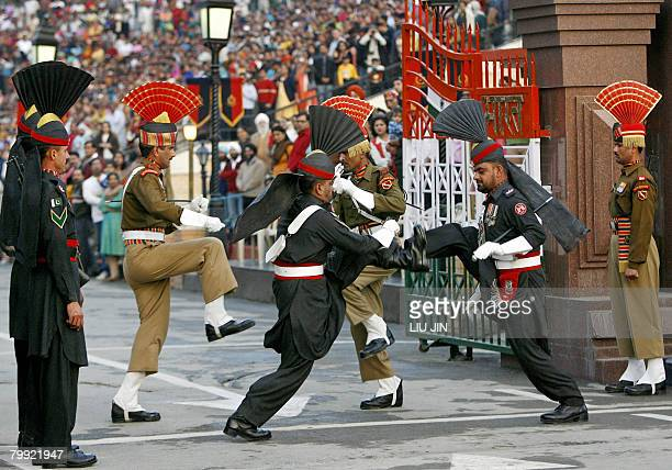 STORY PakistanvoteIndiapeace by Charlie McDonaldGibson In this picture taken on February 20 2008 at the Wagah border post with India some 30 km from...