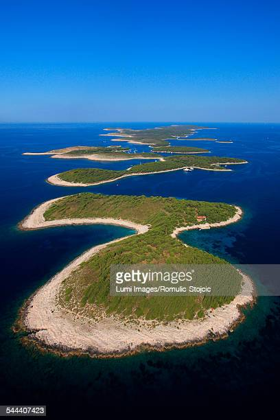 pakleni otoci, archipelago, adriatic sea, dalmatia, croatia - hvar stock photos and pictures
