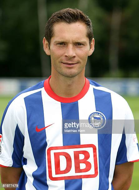 Pal Dardai poses during the Hertha BSC Berlin Team Presentation on July 18 2008 in Berlin Germany