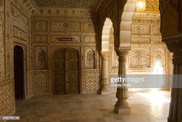 Palace at Junagarh Fort in Bikaner, Rajasthan, India.