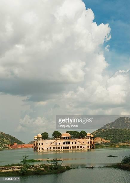 Palace at the waterfront, Jal Mahal, Man Sagar Lake, Jaipur, Rajasthan, India