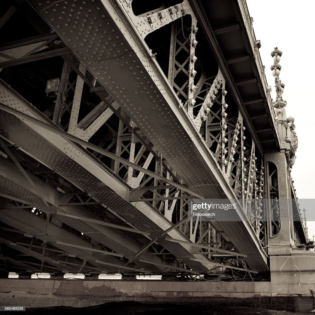 Palace Bridge across the Neva River : Stock Photo