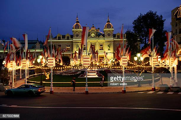 Palace Decorated for Monaco National Day