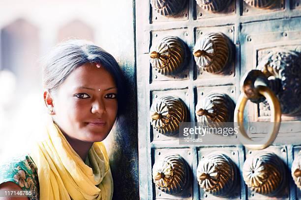 palace gate - nepal stock-fotos und bilder