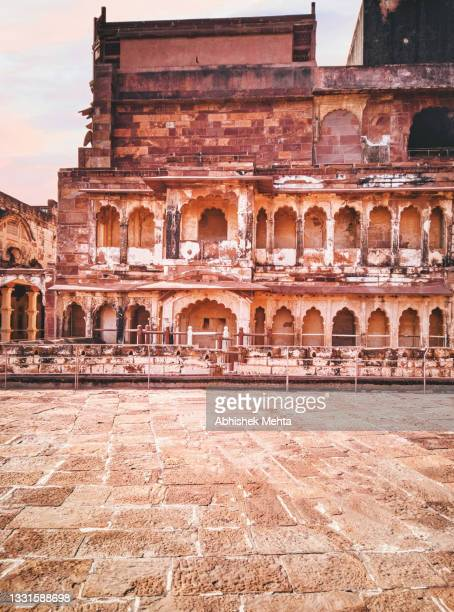 palace heritage - abhaneri stock pictures, royalty-free photos & images