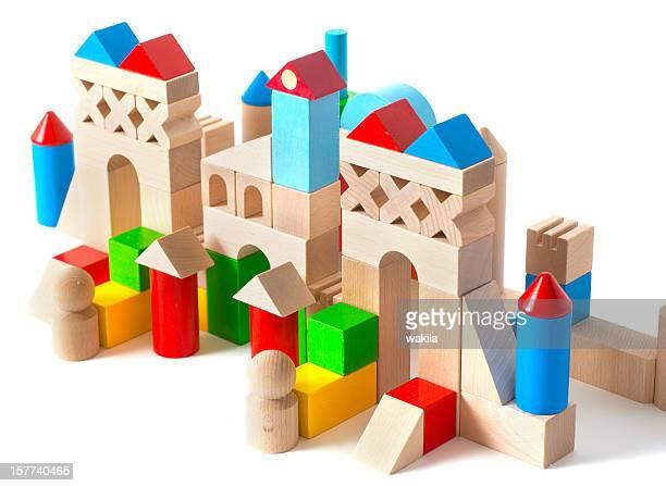 palace aus Spielzeug Würfel-Schloss aus Holzbausteinen