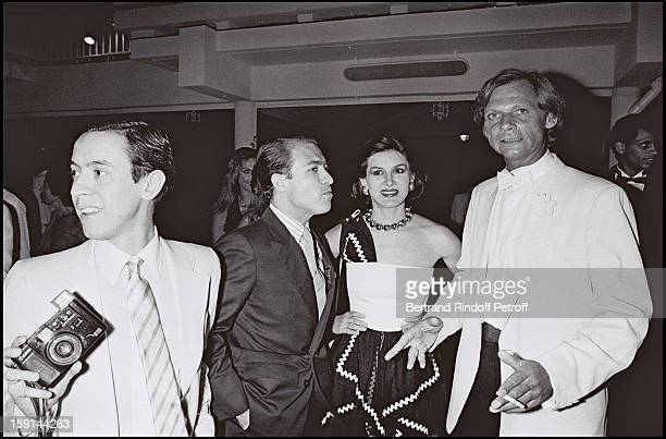 Palace night club director Fabrice Emaer Rafael Lopez Sanchez and his wife Paloma Picasso attend a party organized by the Paris Palace night club in...