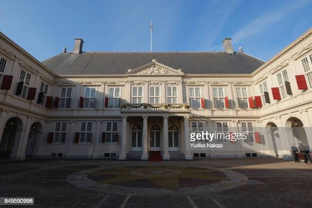 Palace Noordeinde Dutch King WillemAlexander's working palace stands on September 19 2017 in The Hague Netherlands The Prinsjesdag the openingday of...
