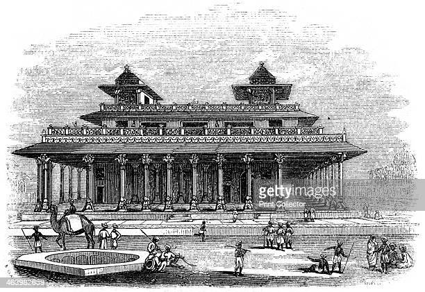 Palace of Allahabad India 1847 Illustration from The History of China and India by Miss Corner