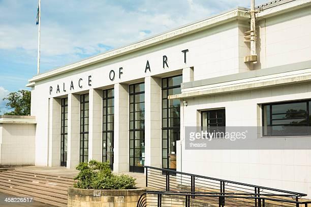 palacio de arte, glasgow - theasis fotografías e imágenes de stock