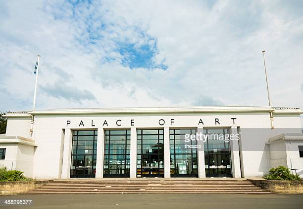 palace of art, glasgow - theasis stock pictures, royalty-free photos & images