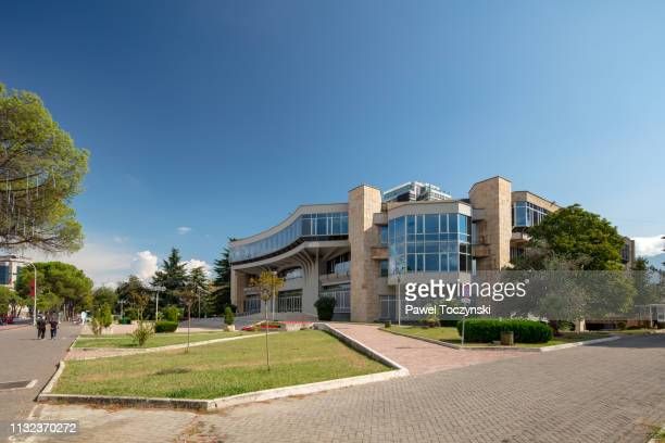 palace of congress in tirana, albania, 2018 - socialism stock pictures, royalty-free photos & images