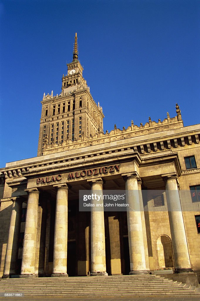 Palace of Culture and Science, Warsaw, Poland : Stock Photo