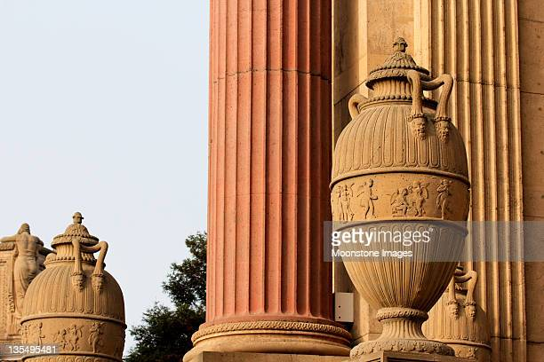 palace of fine arts in san francisco, california - geometrical architecture stock photos and pictures