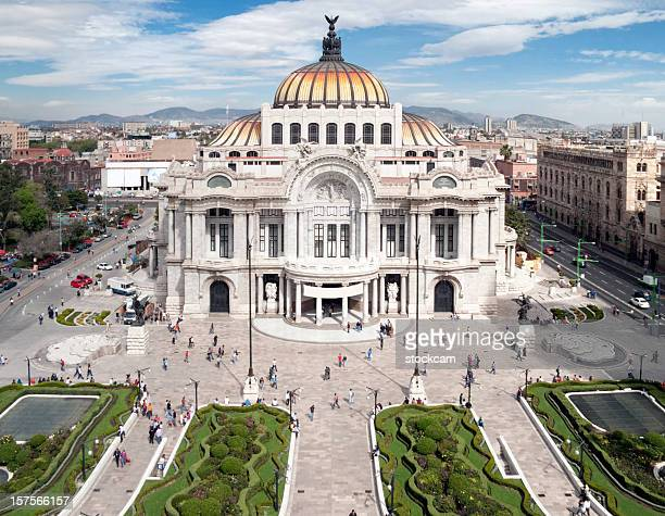 palace of fine arts, mexico city - mexico city stock pictures, royalty-free photos & images