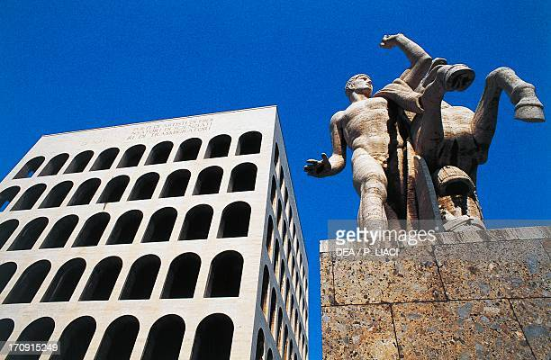 Palace of Italian Civilization also known as Palace of the Civilization of Labour or Square Colosseum Work by the architects Giovanni Guerrini...