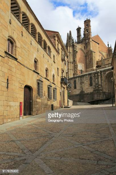 Palace of Justice and cathedral Plasencia Caceres province Extremadura Spain