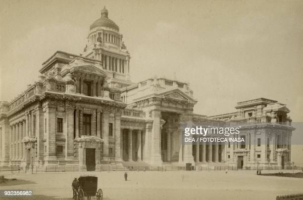 Palace of Justice, Brussels, Belgium, photograph by H Cerf, Brussels, ca 1900.