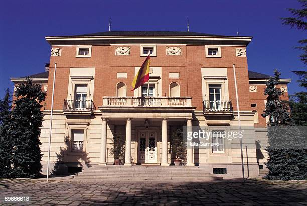 Palace of la Moncloa Facade of the Palacio of La Moncloa, residence of the president from Spain, in Madrid