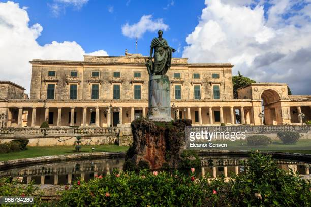 palace of st. michael and george (royal palace) (city palace), corfu town, unesco world heritage site, corfu, ionian islands, greek islands, greece, europe - regency style stock photos and pictures
