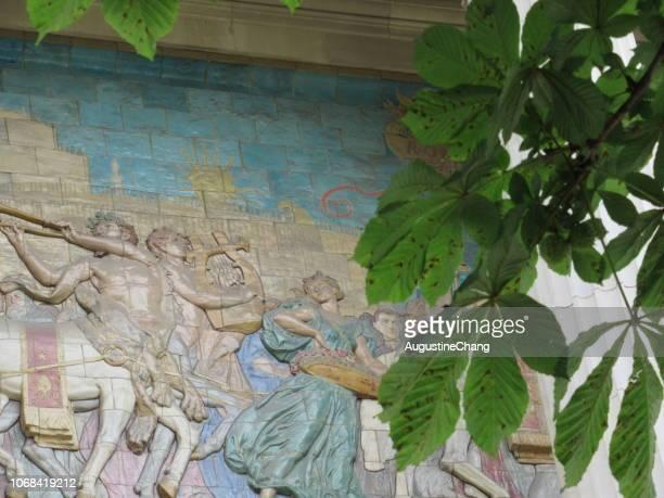 palais de la decouverte - centaur stock photos and pictures