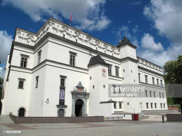 palace of the grand dukes of lithuania, in vilnius old town, just off cathedral square. vilnius, lithuania - off stock pictures, royalty-free photos & images