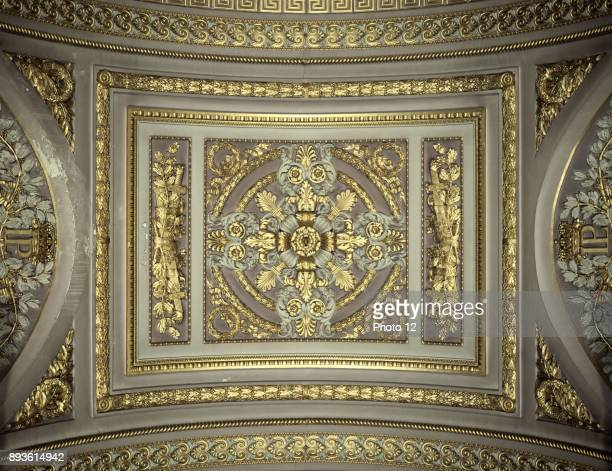 Palace of Versailles detail of the ceiling in the Gallery of the Battles
