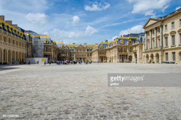 Palace of Versailles or Versailles Castle on a sunny summer day