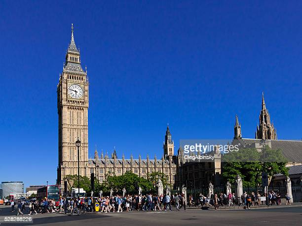 Palace of Westminster (Houses of Parliament) and Big Ben, London.