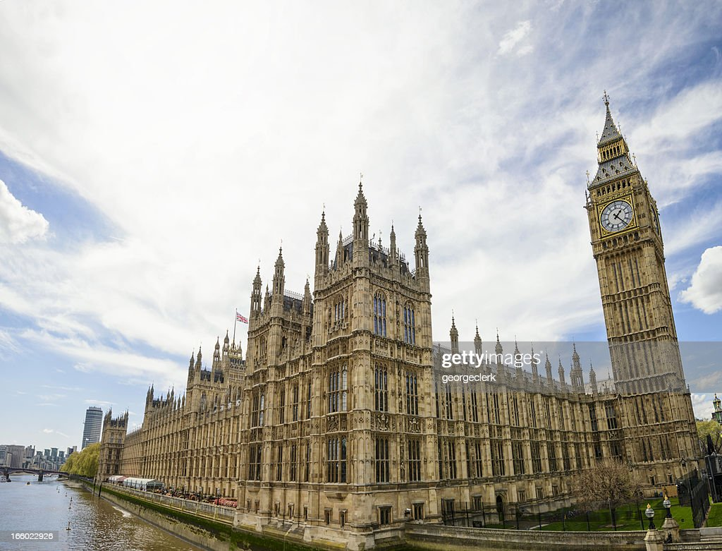 Palace of Westminster Wide Angle View : Stock Photo
