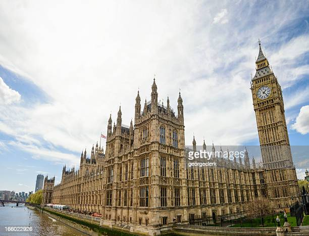 palace of westminster wide angle view - government building stock pictures, royalty-free photos & images