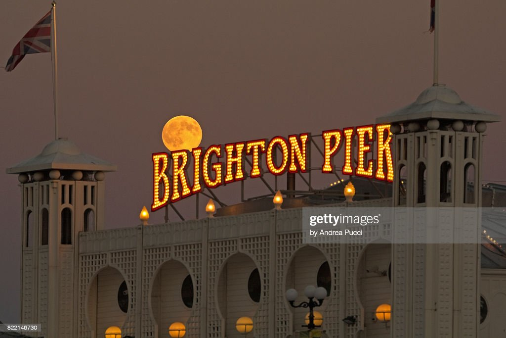 Palace Pier, Brighton, East Sussex, United Kingdom : Stock Photo