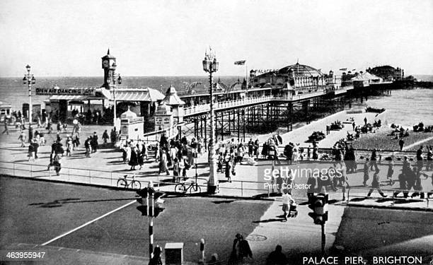 Palace Pier Brighton Sussex early 20th century Brighton's Palace Pier was opened in grand ceremony on 20 May 1899 By 1901 the pier consisted of a...