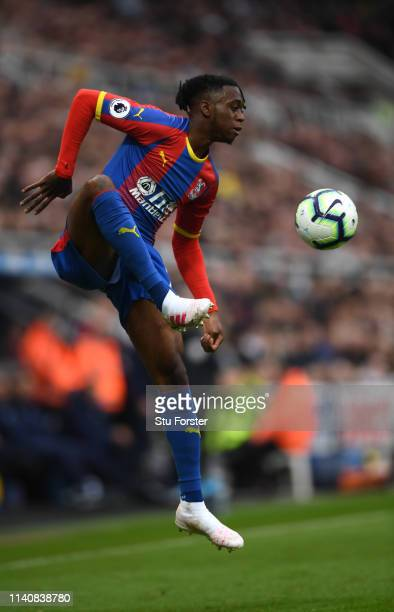 Palace player Aaron Wan-Bissaka in action during the Premier League match between Newcastle United and Crystal Palace at St. James Park on April 06,...