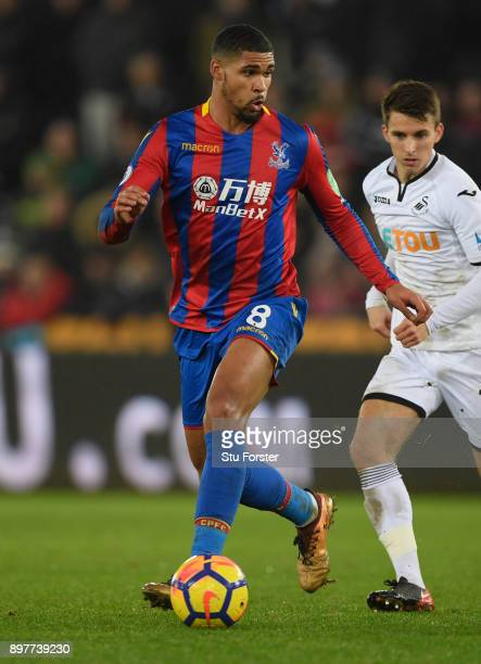 Palace player Ruben LoftusCheek in action during the Premier League match between Swansea City and Crystal Palace at Liberty Stadium on December 23...