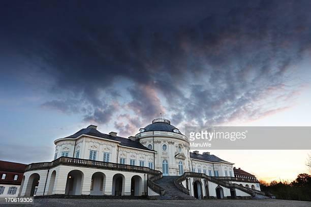 Palace Solitude Stuttgart after Sunset Cloudy