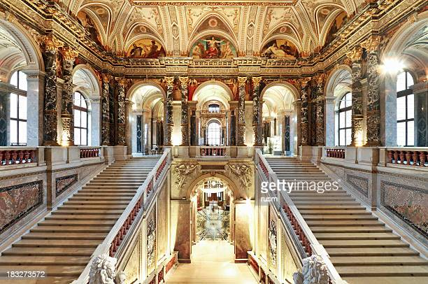 palace staircase - vienna austria stock pictures, royalty-free photos & images