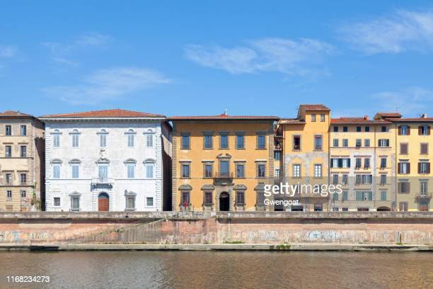 palaces of roncioni and toscanelli in pisa - gwengoat stock pictures, royalty-free photos & images