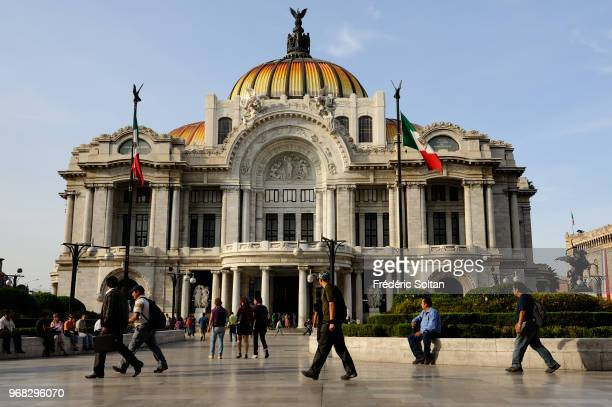 Palacio de Bellas Artes in Mexico City The Palacio de Bellas Artes located on the west side of the historic center of Mexico City on September 08...