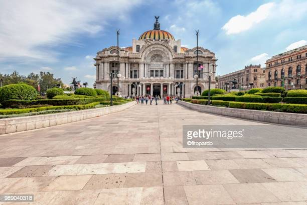palacio de bellas artes plaza - mexico city stock pictures, royalty-free photos & images