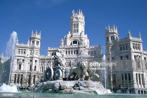 palacio de comunicaciones, madrid, spain - madrid stock pictures, royalty-free photos & images
