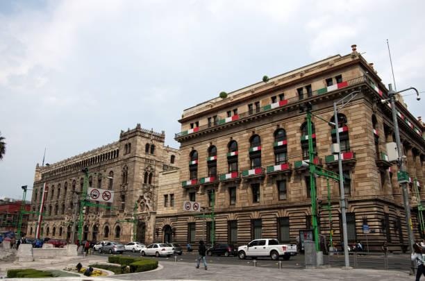 Palacio de Correos de México (Postal Palace of Mexico City) and Banco de México, Eje Central, Centro Histórico, Cuauhtémoc, Mexico City, Mexico