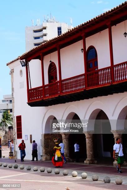 Palacio de la Alcaldia Building, Traditional Clothing, Cartagena, Colombia