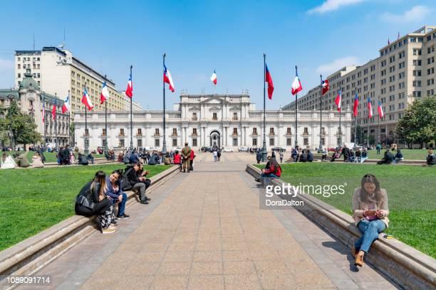 palacio de la moneda - santiago chile stock pictures, royalty-free photos & images