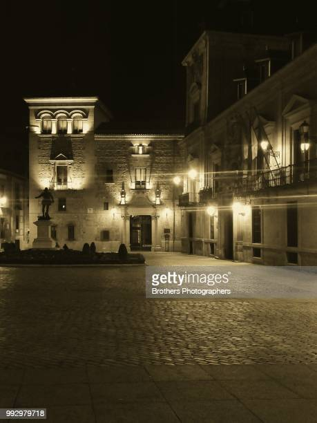 palacio de la villa de madrid en blanco y negro - blanco y negro ストックフォトと画像