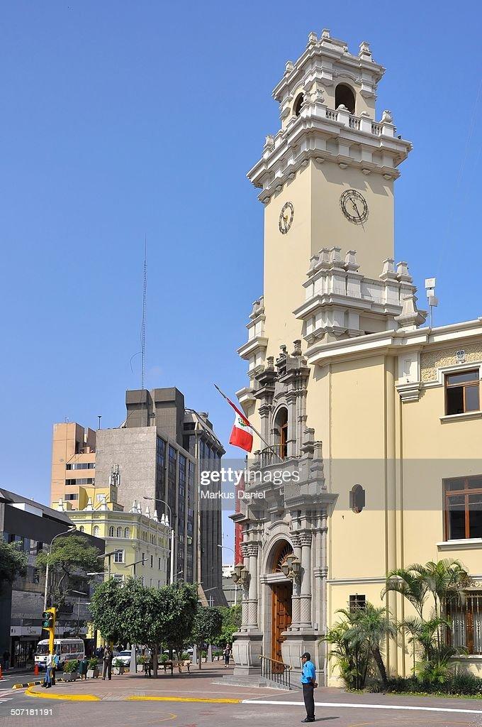 Palacio Municipal de Miraflores, Lima, Peru : Stock-Foto
