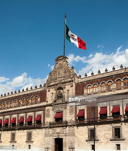 Palacio Nacional (National Palace) flag, Mexico City